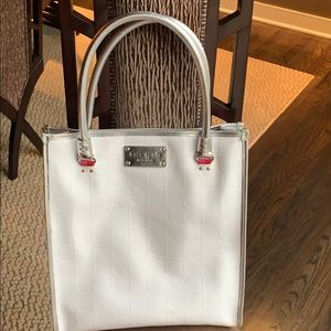 White leather Kate spade tote bag